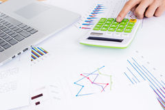 Documents and calculator Royalty Free Stock Image