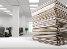 Documents classés photographie stock libre de droits