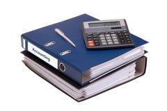 Documents comptables pour la période Photographie stock libre de droits