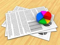 documents 3d Image stock