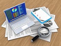 documents 3d illustration de vecteur
