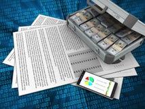 documents 3d Photos stock