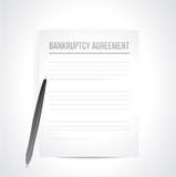 Documents d'accord de faillite. illustration illustration de vecteur
