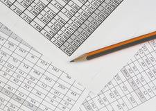 Documents d'affaires Photo stock