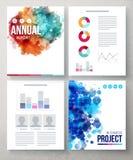 Documents d'entreprise avec des conceptions graphiques abstraites Photo libre de droits