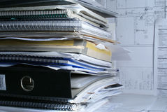 Documents dans le bureau Photos libres de droits