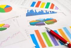 Documents de finances Photographie stock libre de droits