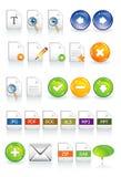 Documents de graphismes Photos stock