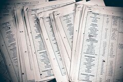 Documents de propagation de comptabilité financière Image libre de droits