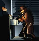 Documents de recherche d'espion Photo libre de droits