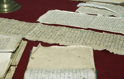 Documents de vieille droite russe. Photos libres de droits
