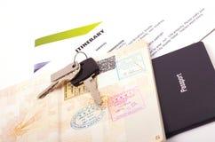 Documents de voyage de vacances Images libres de droits