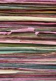documents den mångfärgade bunten Arkivbilder