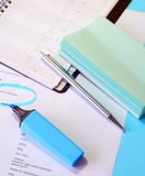 Documents on desk Royalty Free Stock Photography