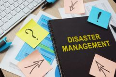 Documents about Disaster Management. royalty free stock photos