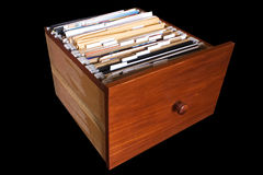 Documents drawer Royalty Free Stock Image