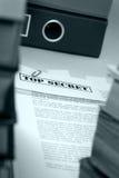 Documents extrêmement secrets Images libres de droits