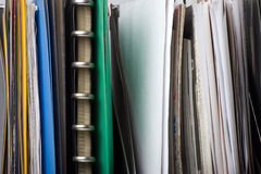 Documents and file folders. A lot of papers, documents and file folders Stock Photography