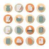 Documents Files And Folders Icons Set Royalty Free Stock Photo