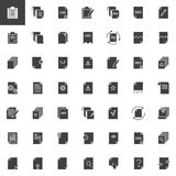 Documents and files vector icons set. Modern solid symbol collection, filled style pictogram pack. Signs, logo illustration. Set includes icons as paper Stock Photo