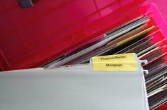 Documents financiers personnels Photographie stock