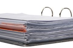 Documents in flip file Royalty Free Stock Image