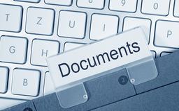 Documents folder on computer Stock Image
