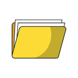 Documents folder icon. Document folder icon over white background. colorful design. vector illustration Royalty Free Stock Photos