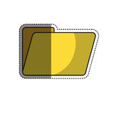 Documents folder icon. Document folder icon over white background. colorful design. vector illustration Stock Photo