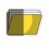 Documents folder icon. Document folder icon over white background. colorful design. vector illustration Royalty Free Stock Image
