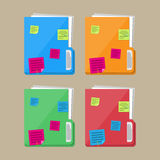 Documents folder with paper sheets, sticky notes Stock Photography