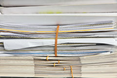 Documents and folders. Stack of office folders and documents Stock Photography