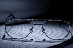 Documents and Glasses Royalty Free Stock Image