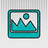 Documents icon design Royalty Free Stock Photography