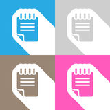 Documents icon great for any use. Vector EPS10. Stock Photo