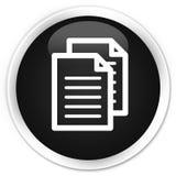 Documents icon premium black round button Stock Photo