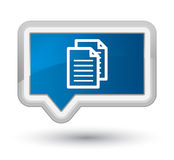 Documents icon prime blue banner button Stock Photography