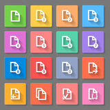 Documents Icon Set Royalty Free Stock Images