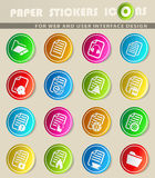 Documents icon set. Documents  icons for user interface design Royalty Free Stock Photo