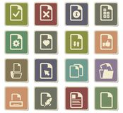 Documents icon set. Documents  icons for user interface design Royalty Free Stock Images