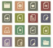 Documents icon set. Documents  icons for user interface design Royalty Free Stock Photography