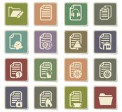 Documents icon set. Documents  icons for user interface design Stock Photos