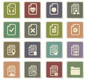 Documents icon set. Documents  icons for user interface design Stock Images