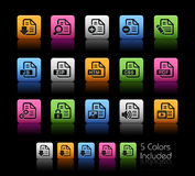 Documents Icons - 1 // Color Box Stock Photography
