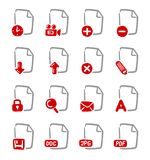 Documents icons. A hand drawn documents icon set Stock Photography