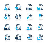 Documents Icons - 2 // Azure Series Royalty Free Stock Images