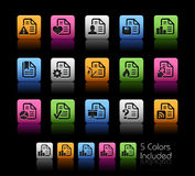 Documents Icons - 2 // Color Box Stock Images