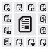 Documents icons Royalty Free Stock Photo
