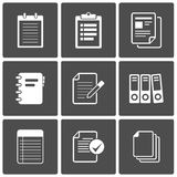 Documents Icons Notepad paper Royalty Free Stock Image