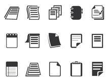 Documents icons set Royalty Free Stock Images